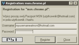 Entering Windows Live ID loging details